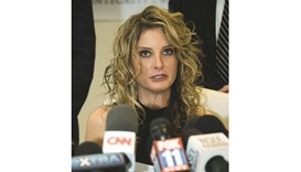 Summer Zervos attends a press conference in Los Angeles on Tuesday.