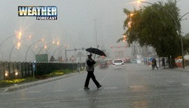 Chance of light rain, followed by windy conditions