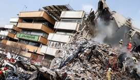 25 missing, 20 firemen killed in Iran building collapse