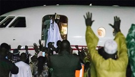 Gambia's Jammeh leaves power after 22 years