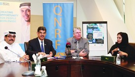 Dr Frank Fitzpatrick and Dr Abdul Sattar al-Taie announce the second Qatar edition