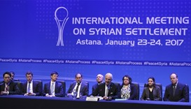UN special envoy for Syria Staffan de Mistura attends news conference following Syria peace talks in