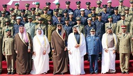 Emir attends military college's graduation ceremony
