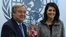 US envoy to UN vows to 'show our strength'