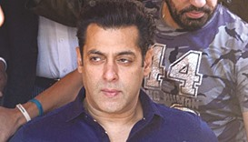 Actor Salman Khan arrives at the Jodhpur court yesterday.
