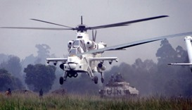 Military helicopters crash in eastern Congo, four missing