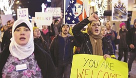 Tens of thousands protest Trump immigration order