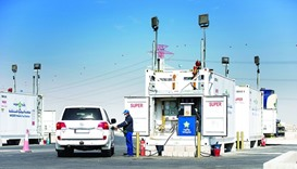 Woqod's mobile petrol station in Doha.