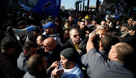 Supporters of Israeli soldier Elor Azaria clash with police