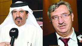 Qatar Chamber vice chairman Mohamed bin Towar al-Kuwari and Turkish ambassador Fikret Ozer. PICTURES