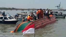 boat capsizes in Indonesia