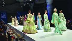 Moroccan designer showcases 'made for Qatar' collection