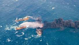 Stricken Iranian oil tanker drifts into Japan's economic zone