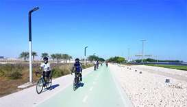 Bike enthusiasts push the pedal at Ras Abu Abboud track
