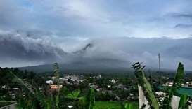 Mayon Volcano spews ash. Photo courtesy: Amy Moral/Inquirer.Net