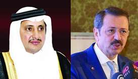 Qatar Chamber chairman Sheikh Khalifa bin Jassim bin Mohamed al-Thani and Union of Chambers and Comm