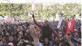 Protests mark Tunisia uprising anniversary