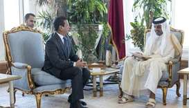 Emir receives message from President of El Salvador