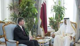 Emir meets President of UN General Assembly