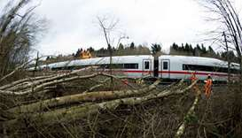 After storm, trains resume limited service in Germany