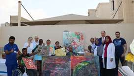 Artwork from 'Qatar Cares' events will be displayed at the Bayt Aman residential villa
