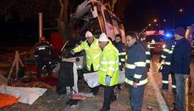 Eleven killed, 46 injured in Turkey bus crash: official