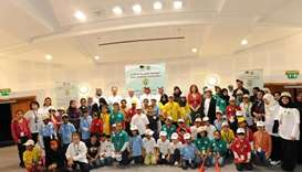 Children and event organisers at the Al Bawasil Diabetes Camp