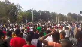 Protesters gather in in Woldiya