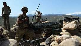 US soldiers take positions during an operation against IS in Afghanistan. File photo/AFP