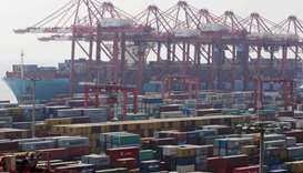 Maersk's Triple-E giant container ship Majestic Maersk in Shanghai