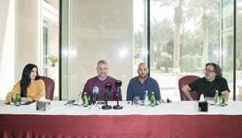 (From left) Nour Fathallah, Carlos Sanchez Caballero, Alejandro Resta and Fouad Sarkis at the press