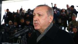 Turkey's President Tayyip Erdogan attends funeral ceremony of Musa Ozalkan, a Turkish soldier who wa