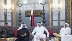 His Highness the Emir Sheikh Tamim bin Hamad al-Thani met Wednesday evening with Kuwaiti First Deput