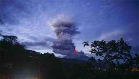 More Filipinos displaced as volcanic lava fires ash