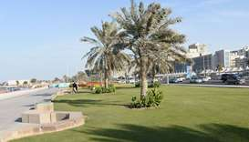 Views of  the Doha Corniche Landscape. PICTURES by Shaji Kayamkulam