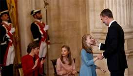 Spain's king honours young daughter as he turns 50