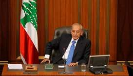 Lebanon's Berri says govt might stumble over tension