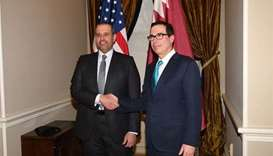 Economy minister holds talks with top US officials