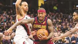 Thomas scores 17 points in Cavs win against Blazers
