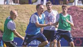 Bayern Munich's training session in Doha attracts hundreds of fans