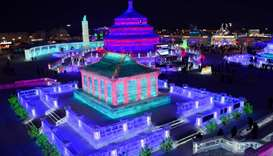 The Harbin Ice and Snow Sculpture Festival attracts hundreds of thousands of visitors annually