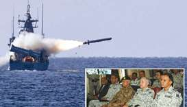 Impressive display of firepower by Pakistan Navy