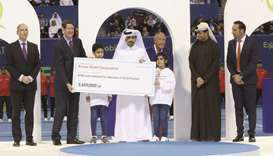 Cheque-presentation ceremony