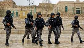 Jordan security forces