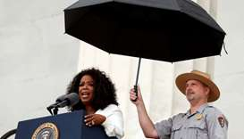Oprah Winfrey speaks during the commemoration of the 50th anniversary of the March on Washington and