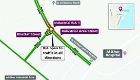 Temporary closure on Industrial Roundabout 1 in Al Khor