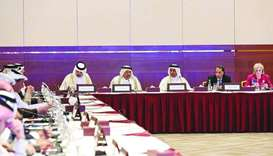 HE al-Kuwari during a roundtable discussion on the sidelines of the Qatar-US Strategic Dialogue at t