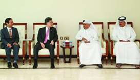 HE al-Kuwari meeting with the Korean delegation. Qatar-South Korea bilateral trade amounted to $12.5