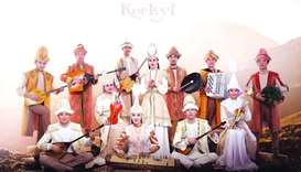 Kazakhstan's folk music ensemble Korkyt