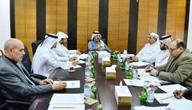 Qatar Chamber second vice chairman Rashid bin Hamad al-Athba presides over the meeting of the chambe